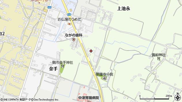 大分県中津市上池永1238周辺の地図