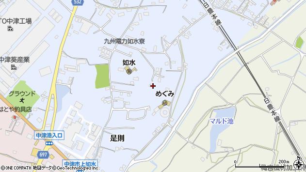 大分県中津市是則1245周辺の地図
