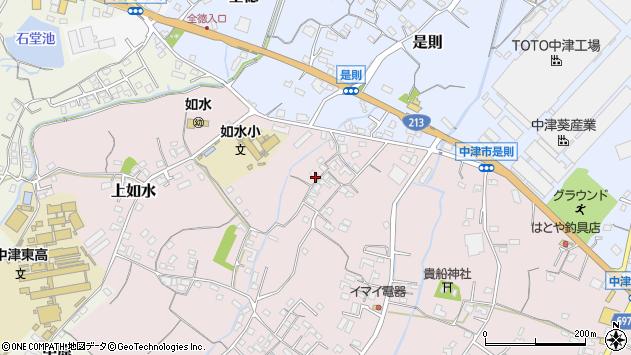 大分県中津市上如水369周辺の地図