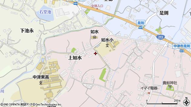 大分県中津市上如水121周辺の地図