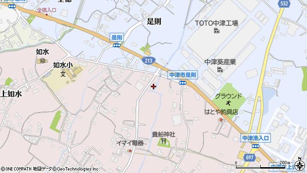 大分県中津市上如水763周辺の地図