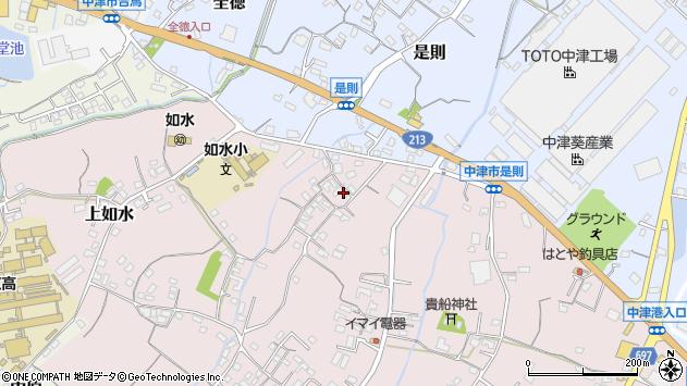 大分県中津市上如水372周辺の地図