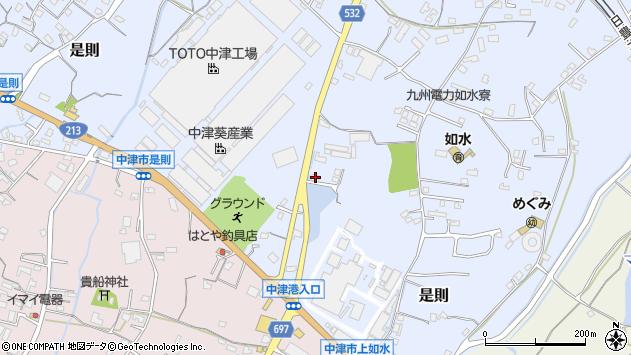 大分県中津市是則1089周辺の地図