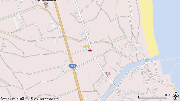 大分県国東市国東町北江3112周辺の地図