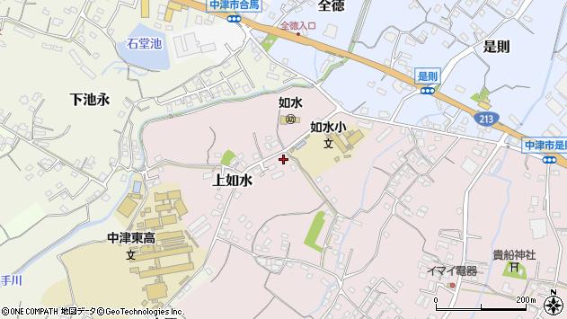 大分県中津市上如水124周辺の地図
