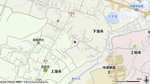 大分県中津市上池永296周辺の地図