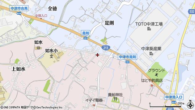大分県中津市上如水358周辺の地図