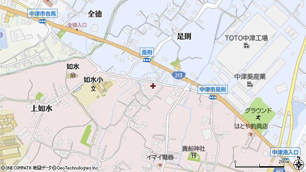 大分県中津市上如水361周辺の地図