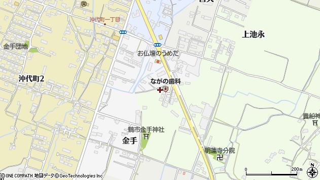 大分県中津市金手16周辺の地図