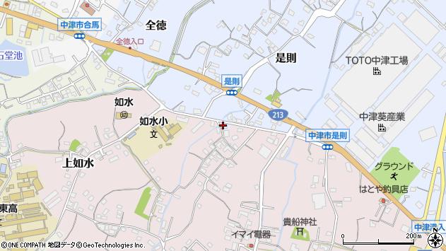 大分県中津市是則165周辺の地図