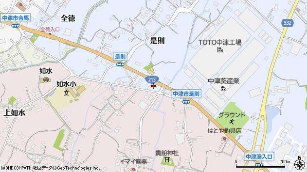 大分県中津市是則641周辺の地図