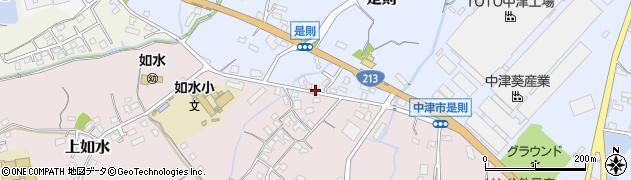 大分県中津市是則167周辺の地図