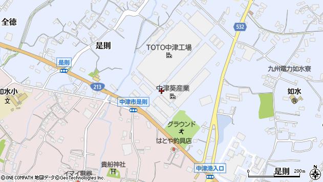 大分県中津市是則700周辺の地図