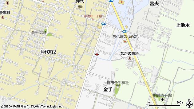 大分県中津市金手41周辺の地図