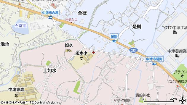 大分県中津市上如水103周辺の地図