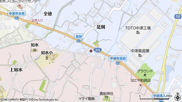大分県中津市是則172周辺の地図