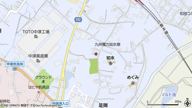大分県中津市是則1076周辺の地図