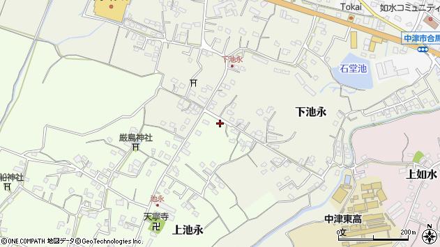 大分県中津市上池永301周辺の地図