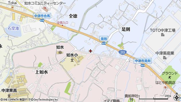 大分県中津市是則159周辺の地図