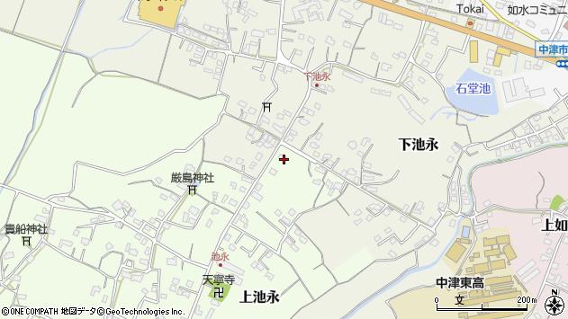 大分県中津市上池永306周辺の地図