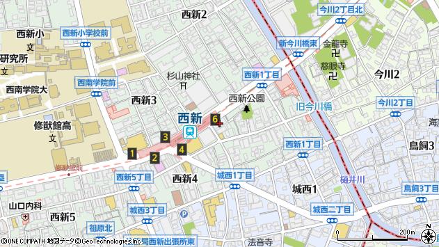 福岡県福岡市早良区西新1丁目10-27 地図(住所一覧から検索 ...