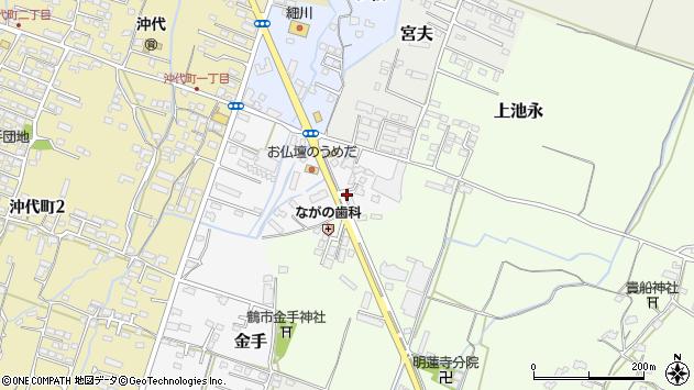 大分県中津市金手8周辺の地図