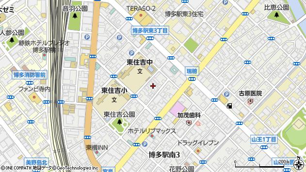 福岡県福岡市博多区博多駅南2丁目4-11周辺の地図