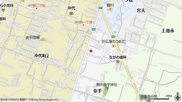 大分県中津市金手43周辺の地図