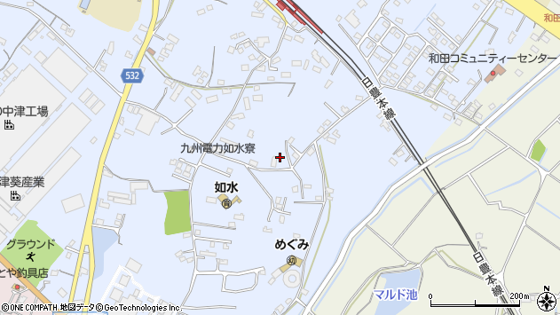 大分県中津市是則1254周辺の地図