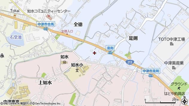 大分県中津市是則160周辺の地図