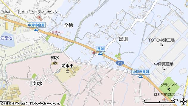 大分県中津市是則145周辺の地図