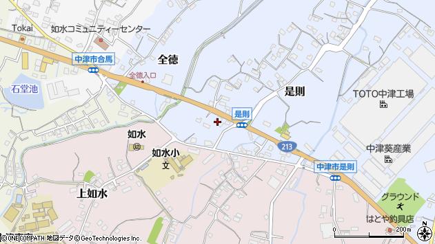 大分県中津市是則146周辺の地図