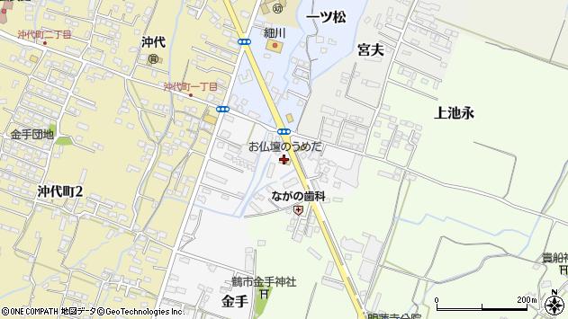 大分県中津市金手周辺の地図