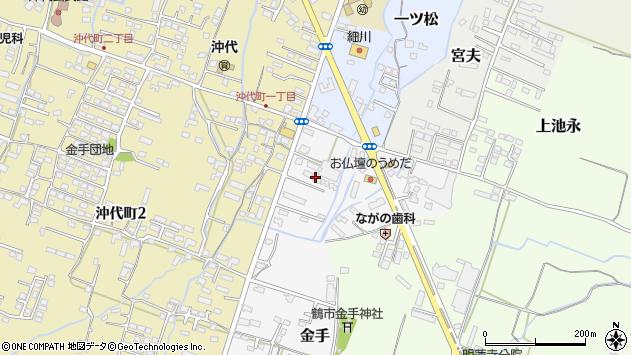 大分県中津市金手44周辺の地図