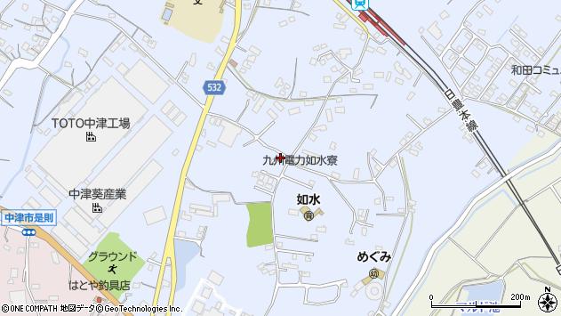 大分県中津市是則1077周辺の地図