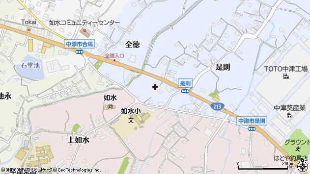 大分県中津市是則151周辺の地図