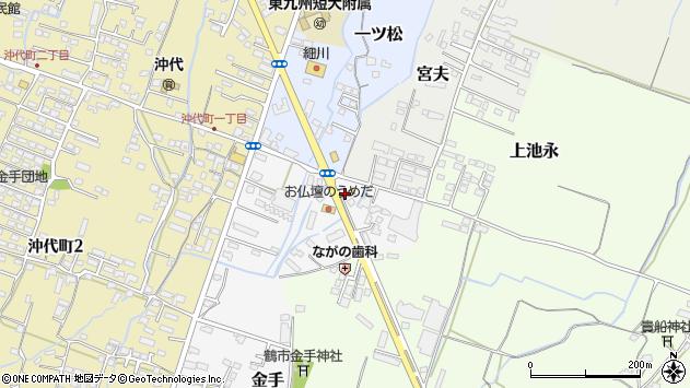大分県中津市金手35周辺の地図