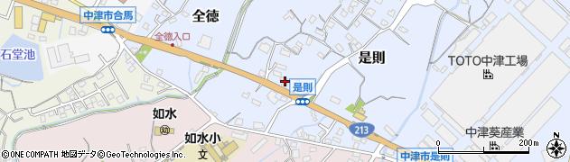 大分県中津市是則79周辺の地図