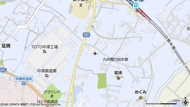 大分県中津市是則1015周辺の地図