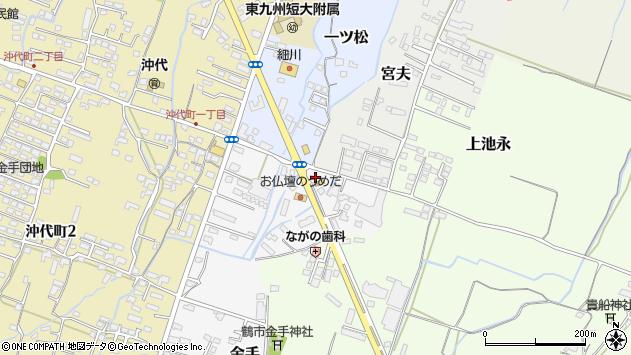 大分県中津市金手36周辺の地図