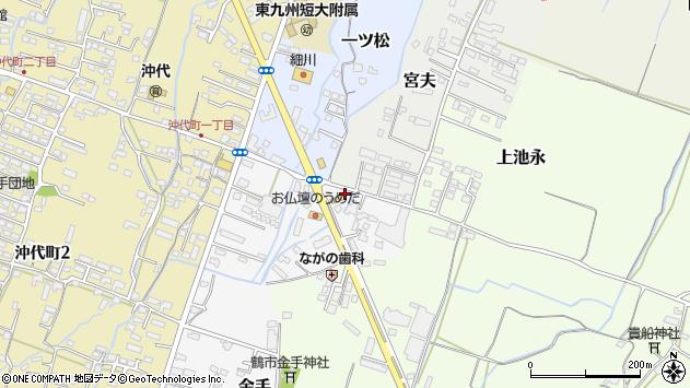 大分県中津市金手37周辺の地図