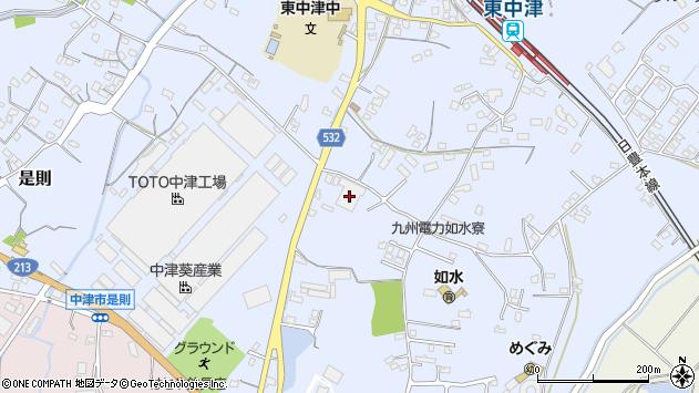 大分県中津市是則1017周辺の地図