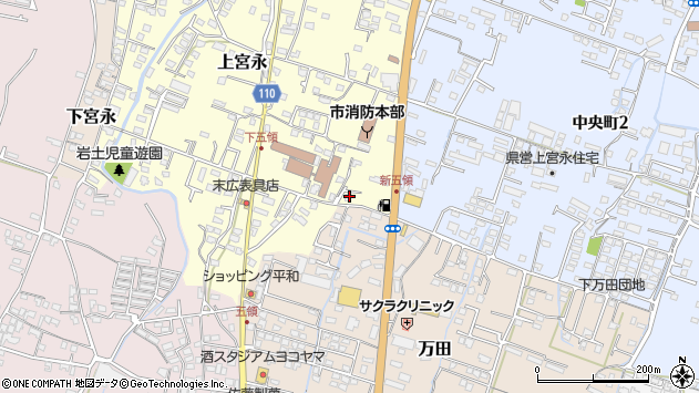大分県中津市上宮永488周辺の地図