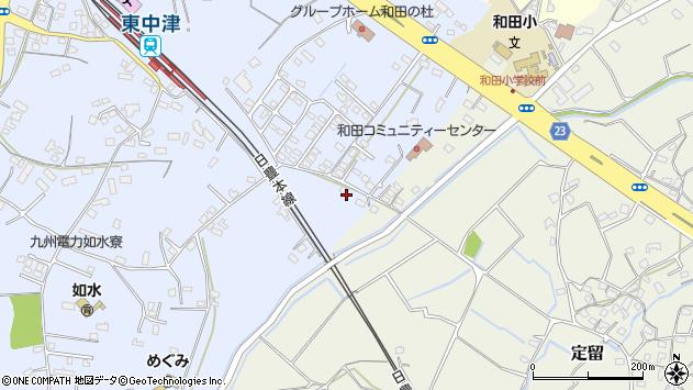 大分県中津市是則1221周辺の地図
