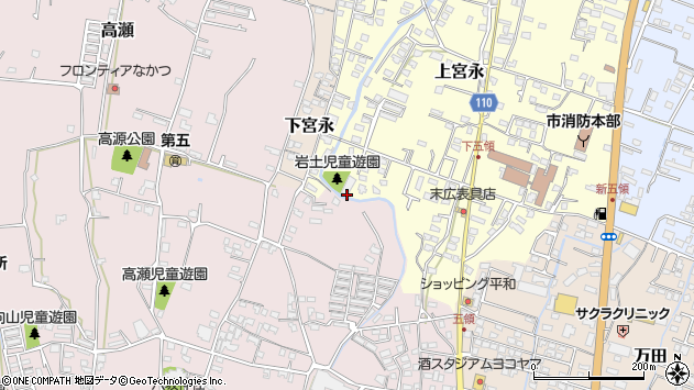 大分県中津市上宮永1005周辺の地図