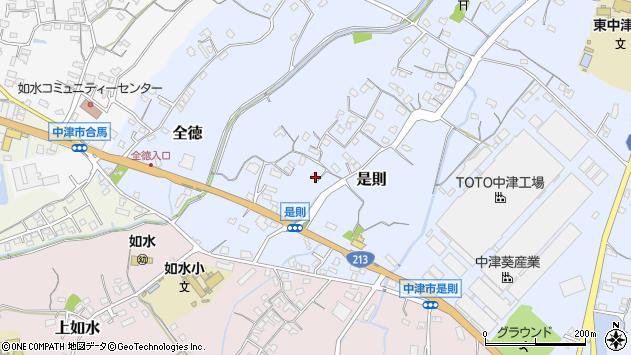 大分県中津市是則123周辺の地図