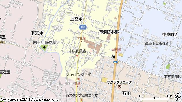 大分県中津市上宮永301周辺の地図