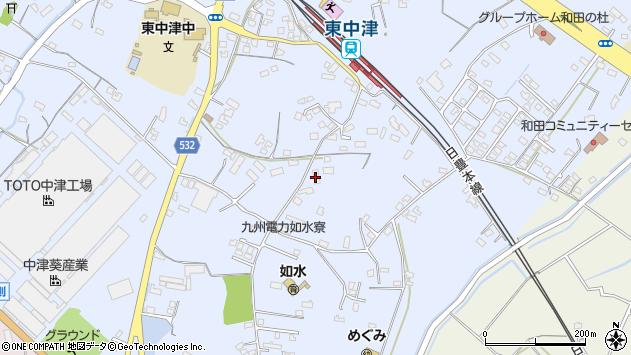 大分県中津市是則996周辺の地図