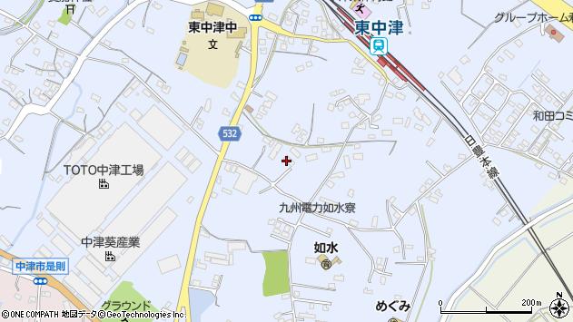 大分県中津市是則1030周辺の地図