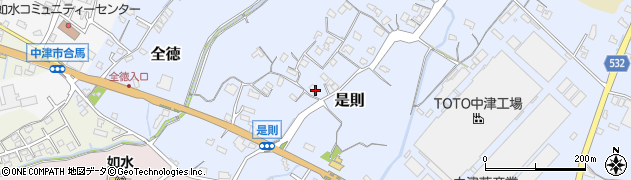 大分県中津市是則101周辺の地図
